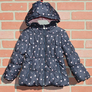 Oshkosh Bgosh hooded puffer jacket size 4T